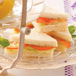 Mint Cucumber Sandwiches Recipe