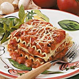 No-Bake Mushroom Lasagna Recipe