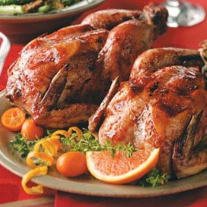 Berry-Port Game Hens Recipe