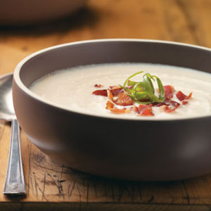 Creamy Cauliflower and Bacon Soup Recipe