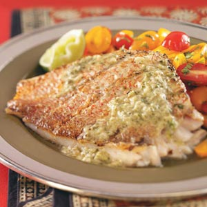 Grilled Snapper with Caper Sauce Recipe