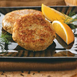 Dilly Salmon Patties Recipe