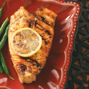 Easy Grilled Halibut Steaks Recipe