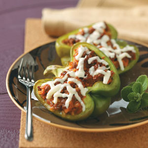 Healthy Vegetarian Stuffed Peppers Recipe