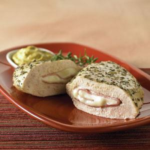 Ham and Swiss Stuffed Chicken Breast with Mustard Sauce Recipe