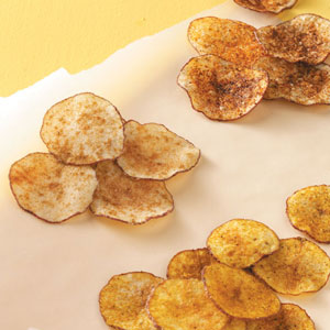How to bake potato chips in microwave oven