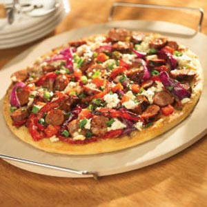Grilled Pizza with Italian Sausage