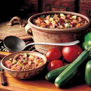 Rich Meaty Vegetable Chili Recipe