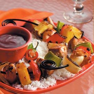 Tropical Chicken Kabobs Recipe