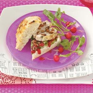 Cranberry Chicken Focaccia Recipe