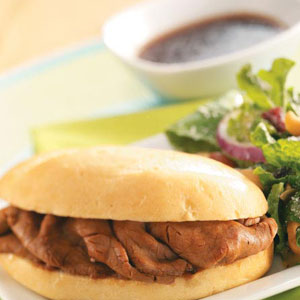 Quick French Dip Sandwiches Recipe