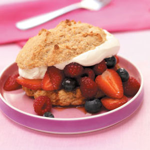 Spiced Triple Berry Shortcakes Recipe