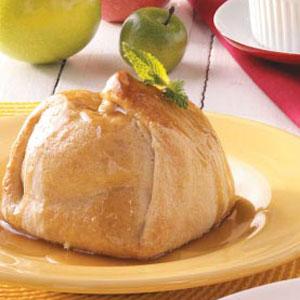 Apple Dumplings with Caramel Sauce Recipe