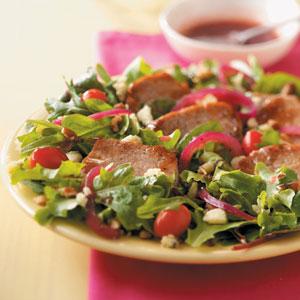 Warm Pork and Raspberry Salad Recipe