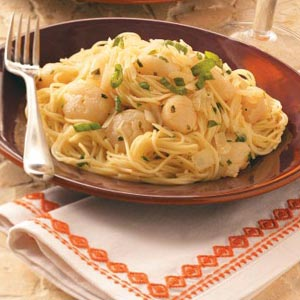 Scallops with Angel Hair Recipe