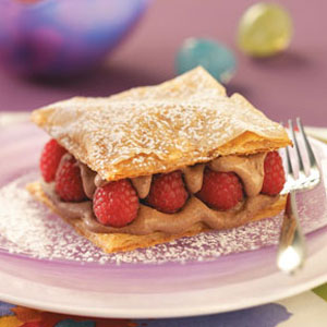 Chocolate Raspberry Napoleons Recipe