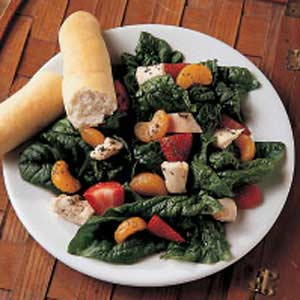 Fruited Chicken Spinach Salad Recipe