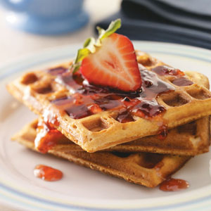 Peanut Butter & Jelly Waffles Recipe