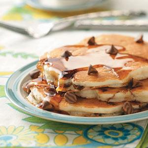 Banana Chip Pancakes Recipe