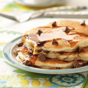 Banana Chip Pancakes Recipe