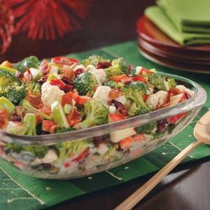 Broccoli-Apple Salad with Bacon Recipe
