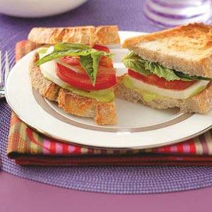 Fresh Mozzarella Sandwiches for 2 Recipe