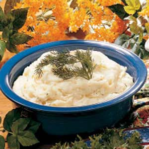 Sour Cream and Dill Mashed Potatoes Recipe