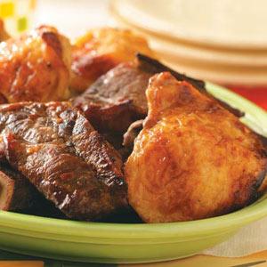 Maple Chicken 'n' Ribs Recipe