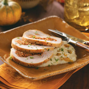 Chorizo-Stuffed Turkey Breast with Mexican Grits Recipe