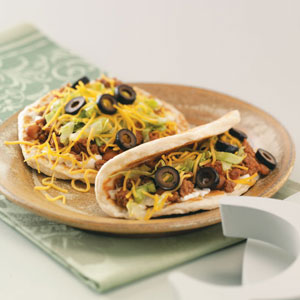 Flatbread Tacos with Ranch Sour Cream