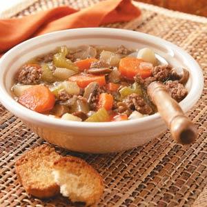 Beef & Vegetable Soup Recipe