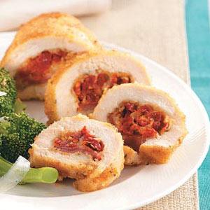 Sun-Dried Tomato Chicken Roll-Ups