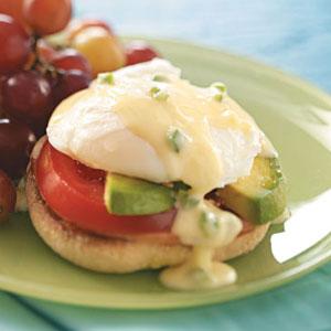 Eggs Benedict with Jalapeno Hollandaise Recipe