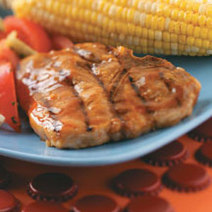Glazed Pork Chops for 2 Recipe