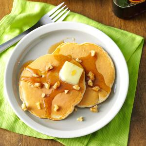 Apple Walnut Pancakes Recipe