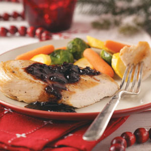 Chicken with Cranberry-Balsamic Sauce Recipe