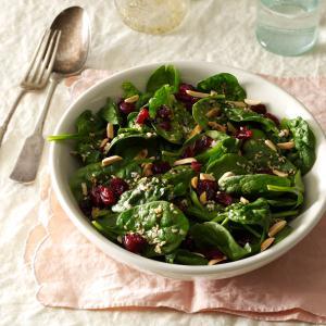 Cranberry-Sesame Spinach Salad Recipe