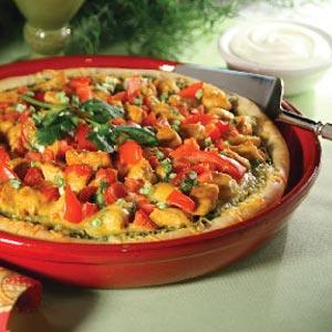 Cilantro Pesto Pizza Recipe