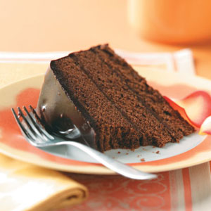 Chocolate truffle cake recipe taste of home for Award winning dutch oven dessert recipes