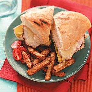 Pork Panini & Spiced Fries Recipe