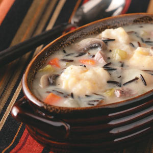 Wild Rice and Cheddar Dumpling Soup Recipe