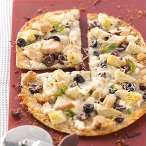 Greek Flatbread Pizzas Recipe