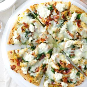Spinach-Pesto White Pizza Recipe