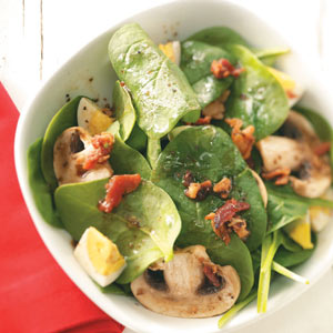 Super Spinach Salad for Two Recipe