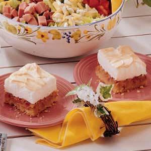 Spring Rhubarb Torte Recipe