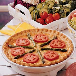 Asparagus Tomato Quiche Recipe