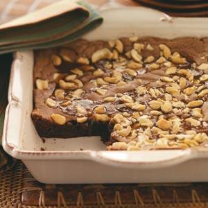 Gooey Caramel Cashew Brownies Recipe