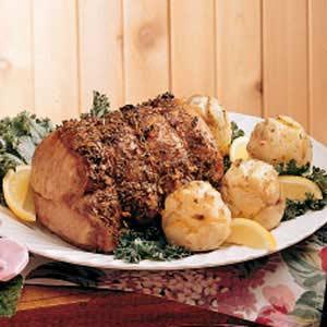 Roasted Pork and Potato Roses Recipe