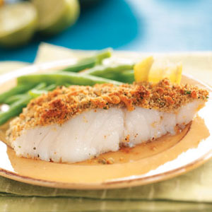 Crumb-Topped Baked Fish for Two Recipe