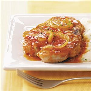 Tangy Barbecued Pork Chops Recipe